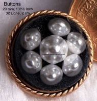 Black pearl buttons, Pearl buttons, Pearl dome buttons, Free  worldwide shipping